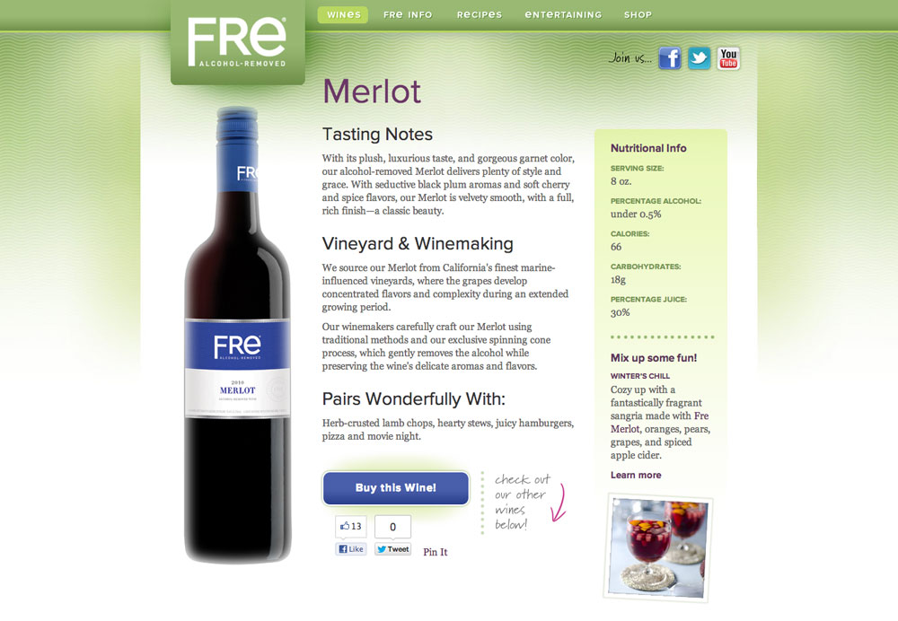Fre Wines Website by Daylight Studio