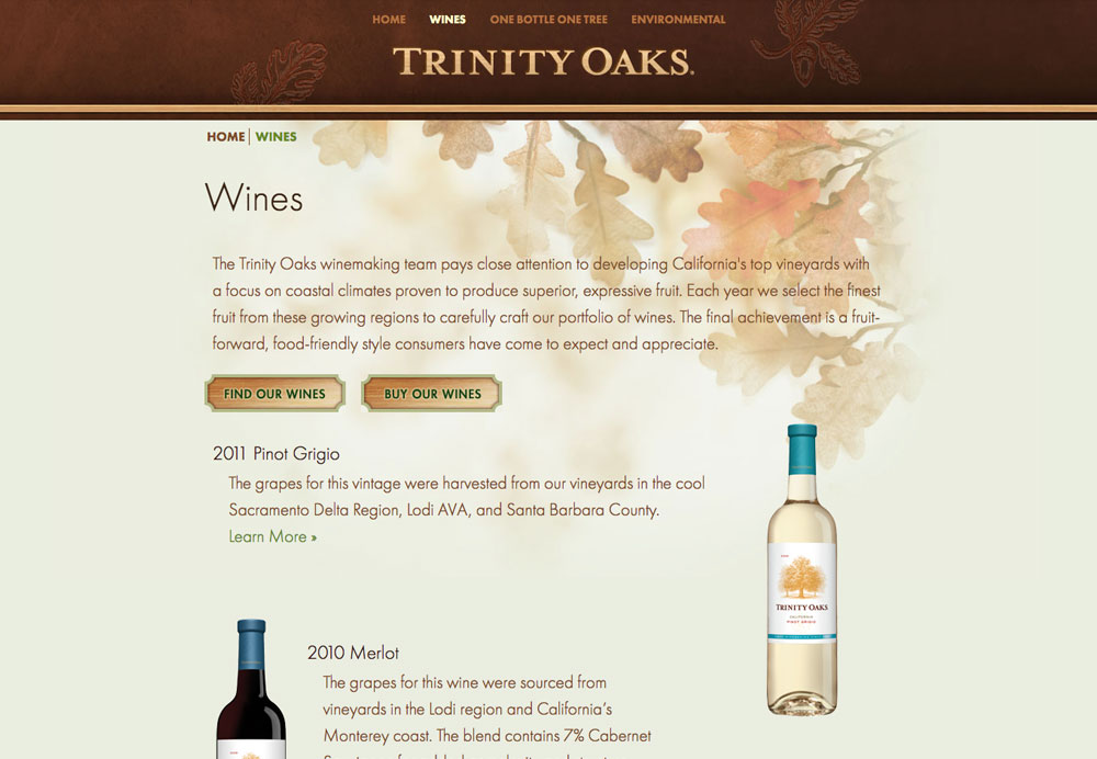 Trinity Oaks Website by Daylight Studio