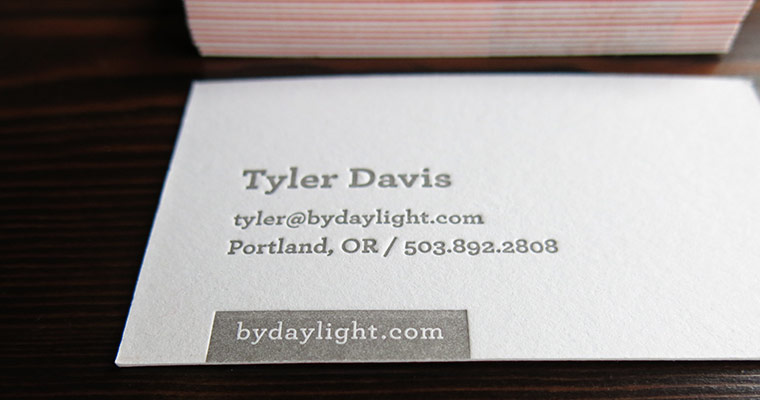 digital design agency letterpress business cards