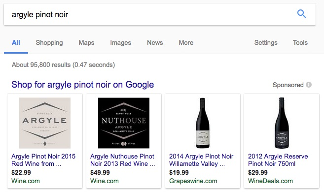 Google Shopping Result for Wine