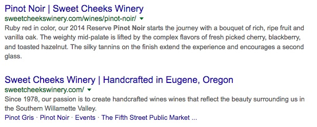 Organic Search Result for Wine