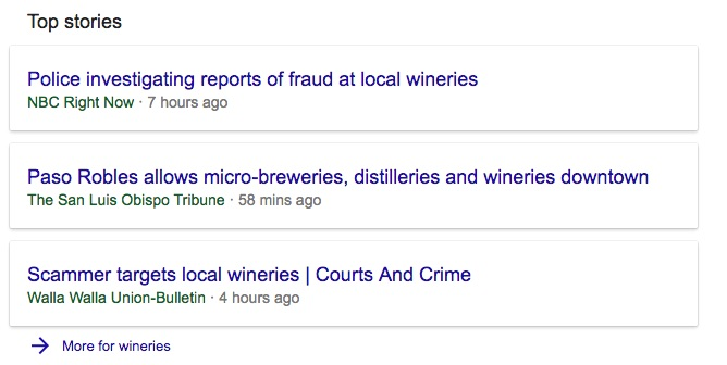 Top Stories Result for Wine