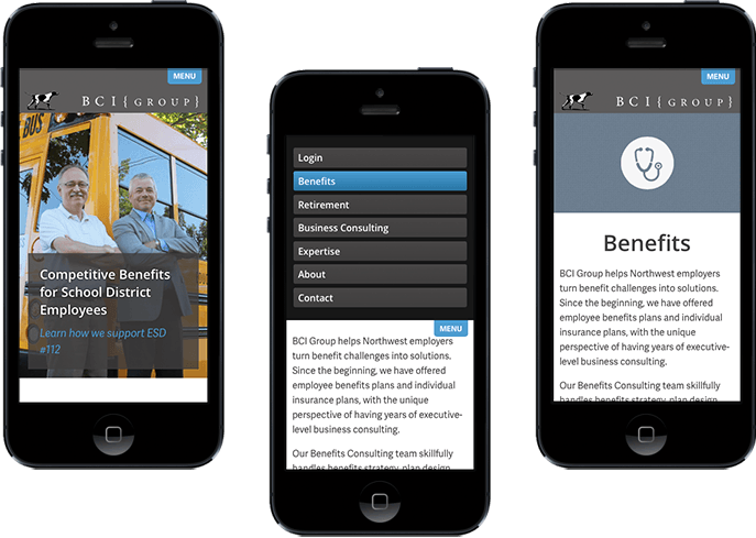 responsive website design and development tuned for mobile browsing