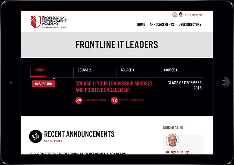LMS participant homepage progress