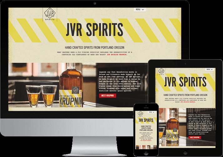 responsive website design homepage view