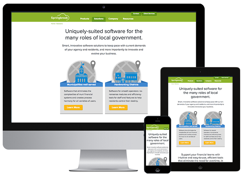 Responsive website design and development multi device view